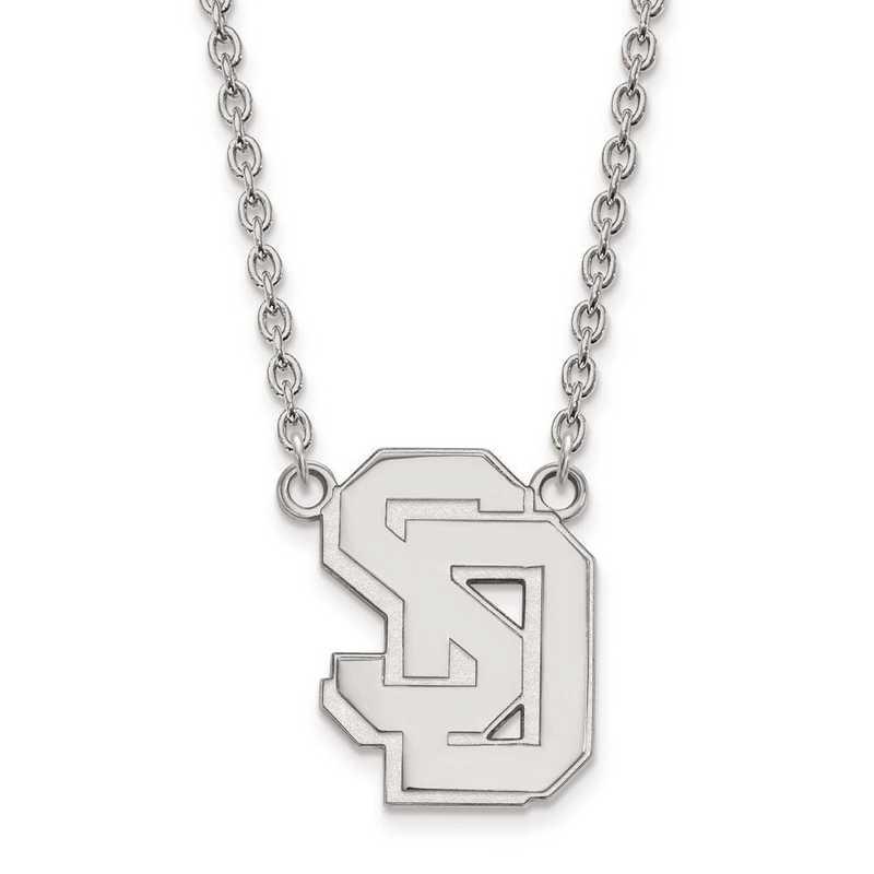1W010USD-18: 10kw LogoArt Univ of South Dakota Large Pendant w/Necklace