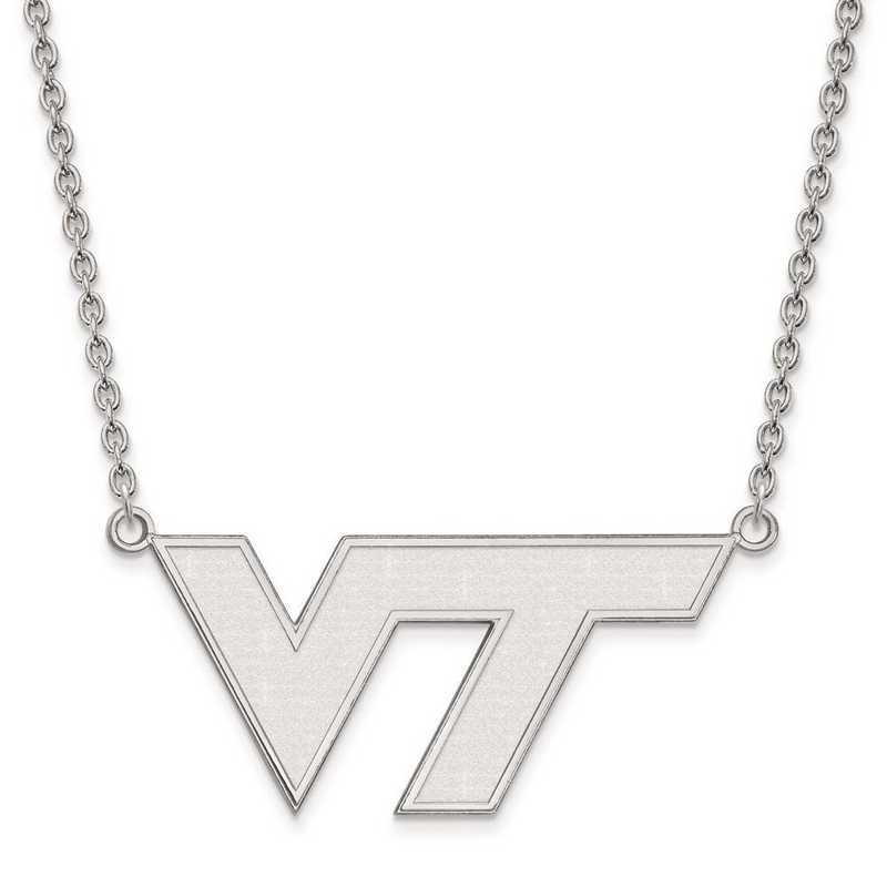 1W010VTE-18: 10kw LogoArt Virginia Tech Large Pendant w/Necklace