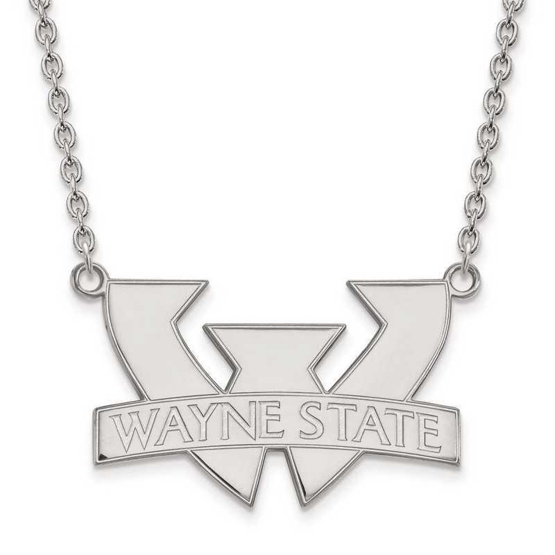 1W010WAY-18: 10kw LogoArt Wayne State University Large Pendant w/Necklace
