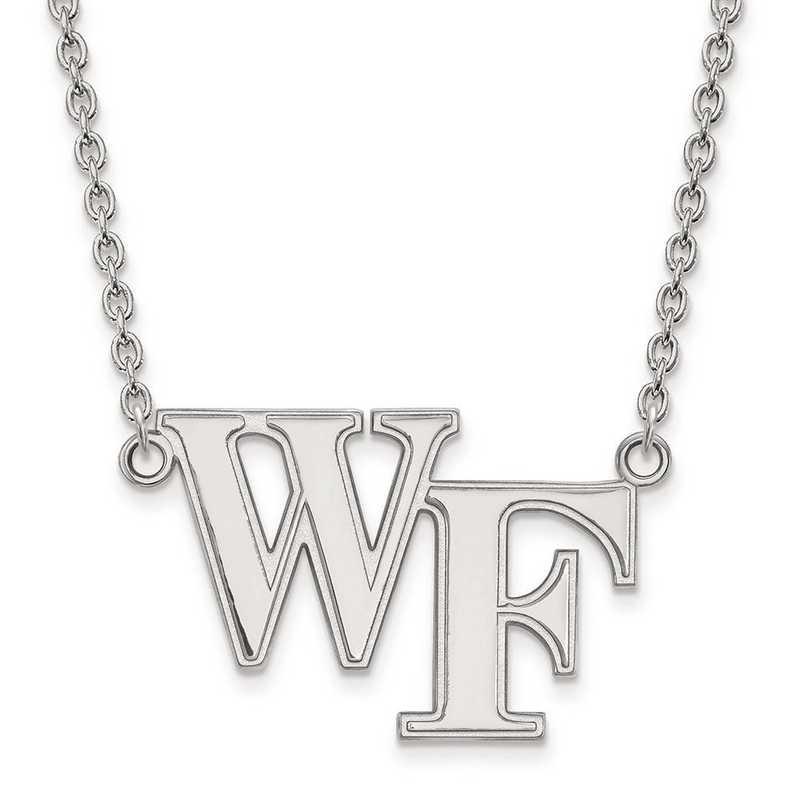 1W010WFU-18: 10kw LogoArt Wake Forest University Large Pendant w/Necklace