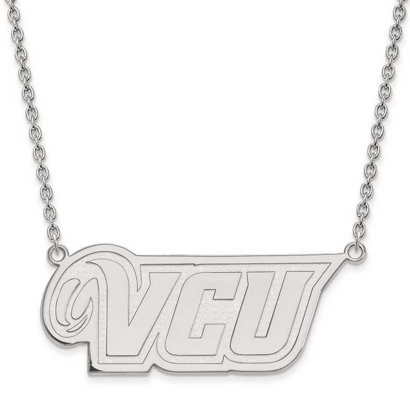 1W011VCU-18: 10kw LogoArt Virginia Commonwealth Univ Large Pend w/Neck