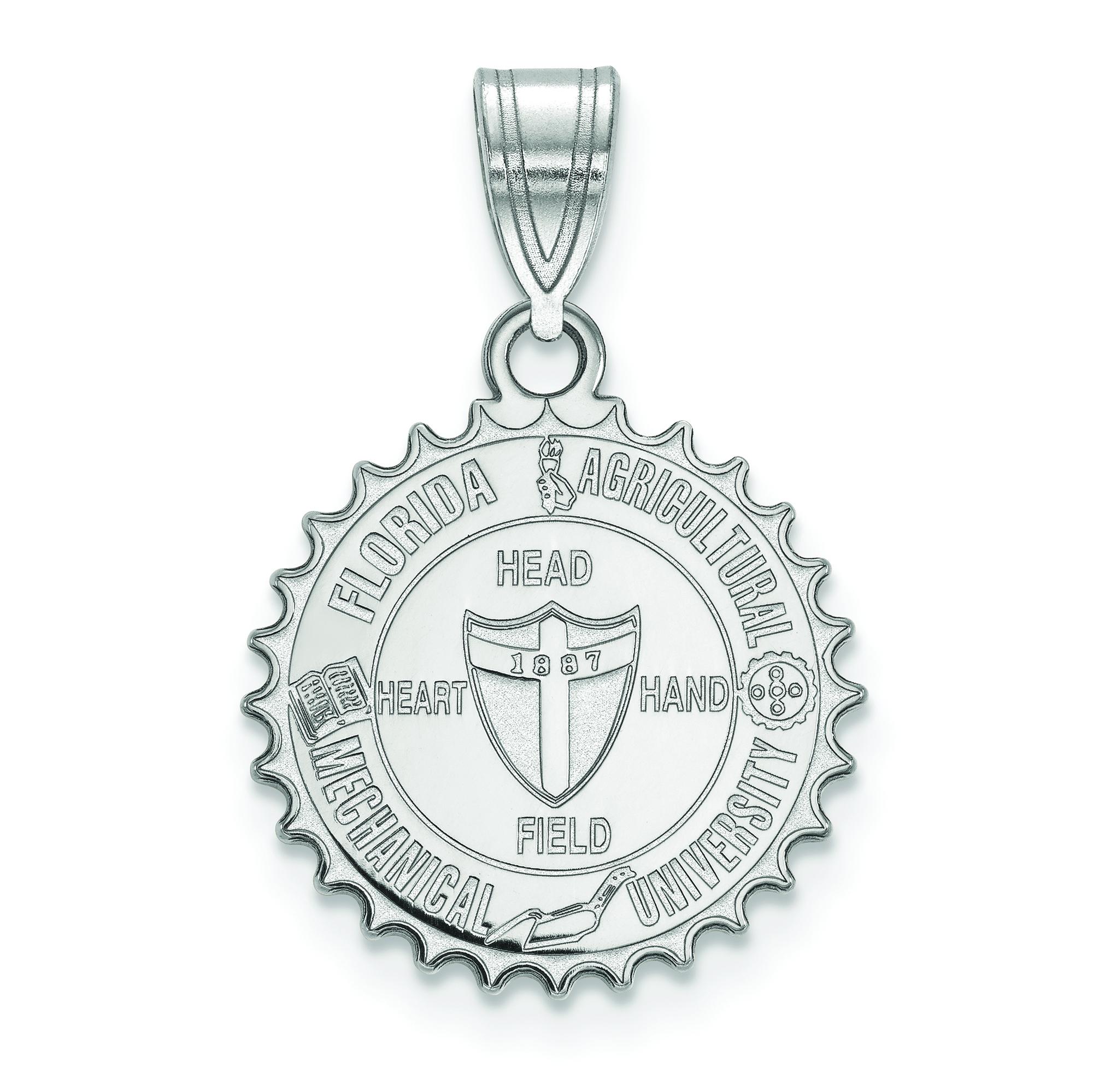 Sterling Silver Florida A/&M University Large Enamel Pendant by LogoArt