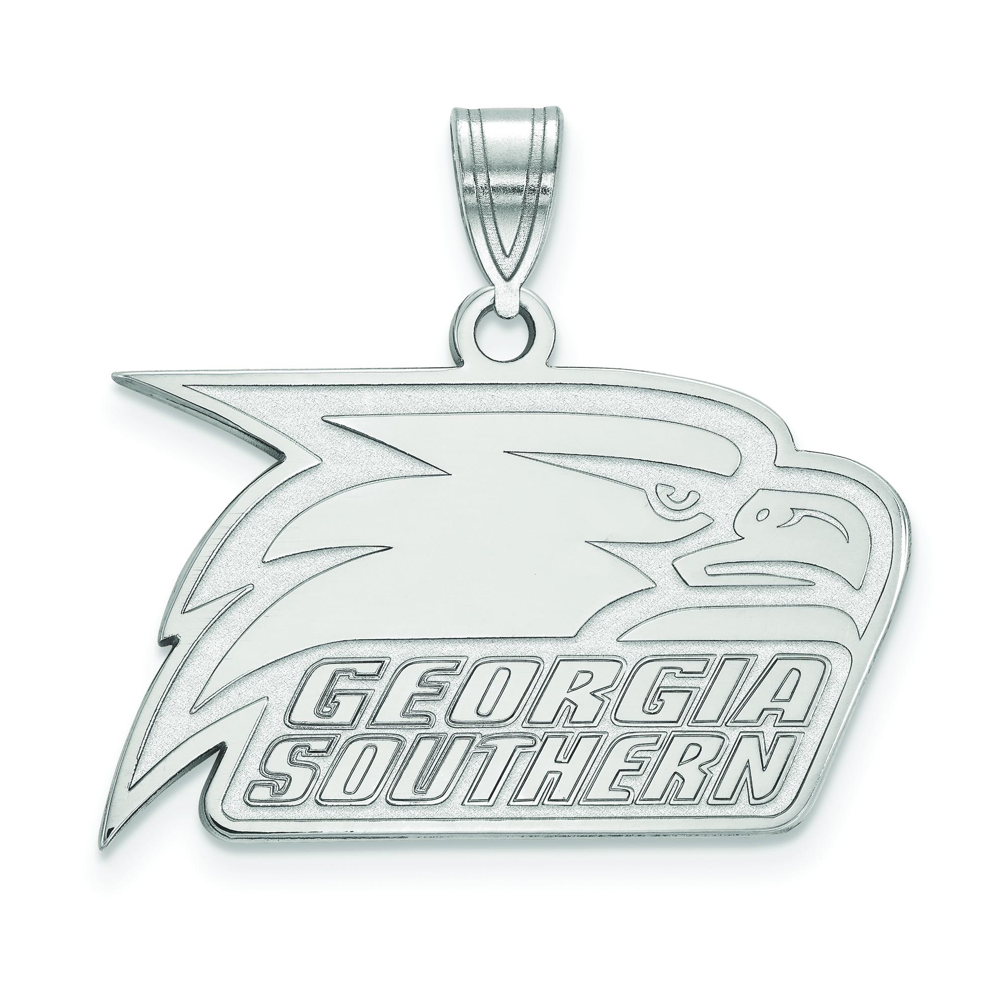 SS005GSU Sterling Silver Georgia Southern University Small Pendant by LogoArt