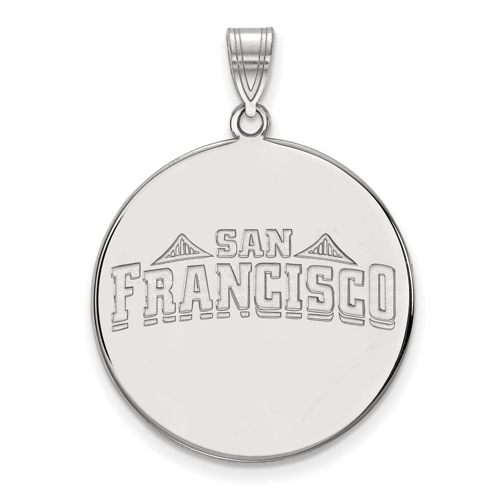Sterling Silver University of San Francisco Medium Disc Pendant by LogoArt