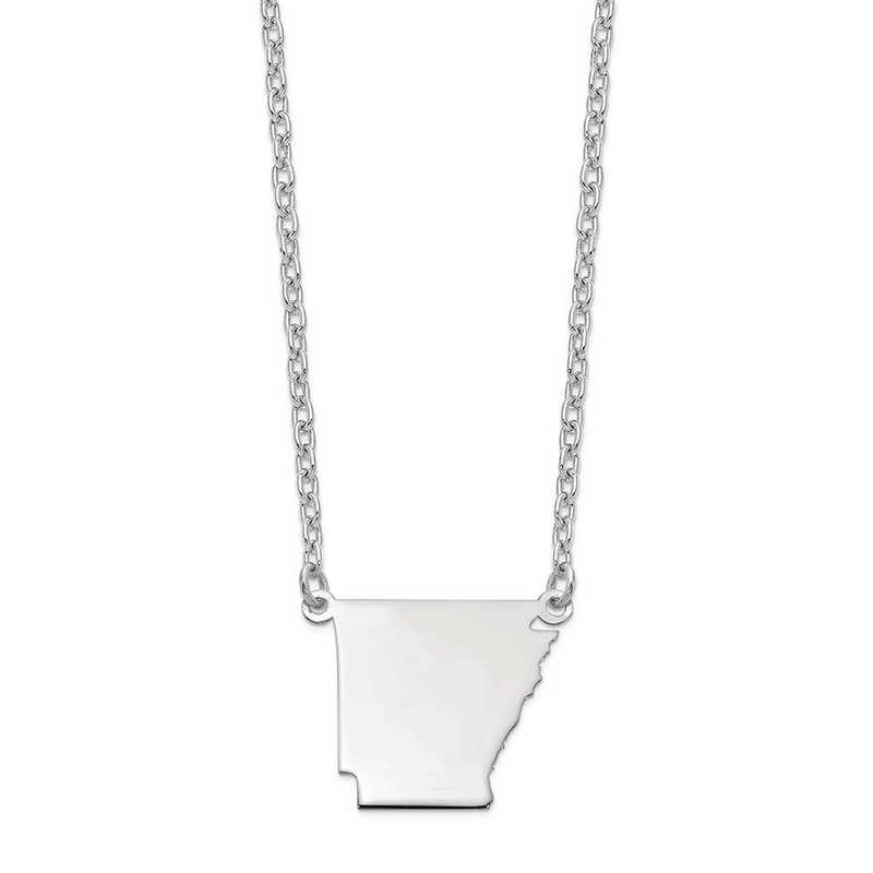 XNA706W-AR: 14k White Gold AR State Pendant with chain
