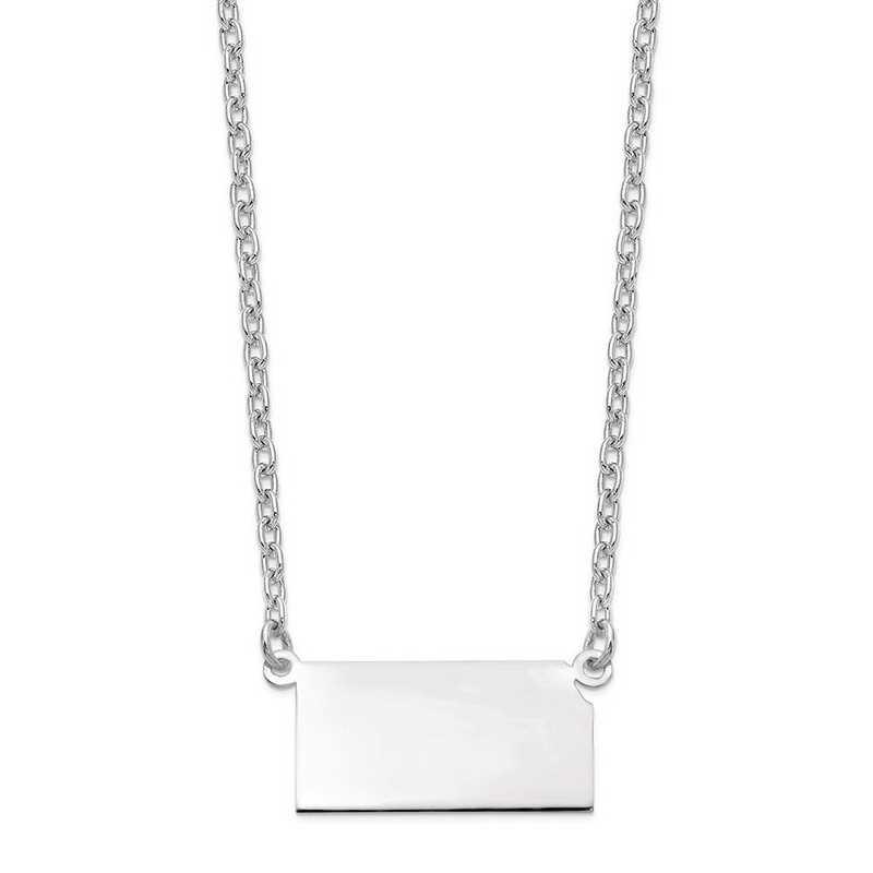 XNA706W-KS: 14k White Gold KS State Pendant with chain