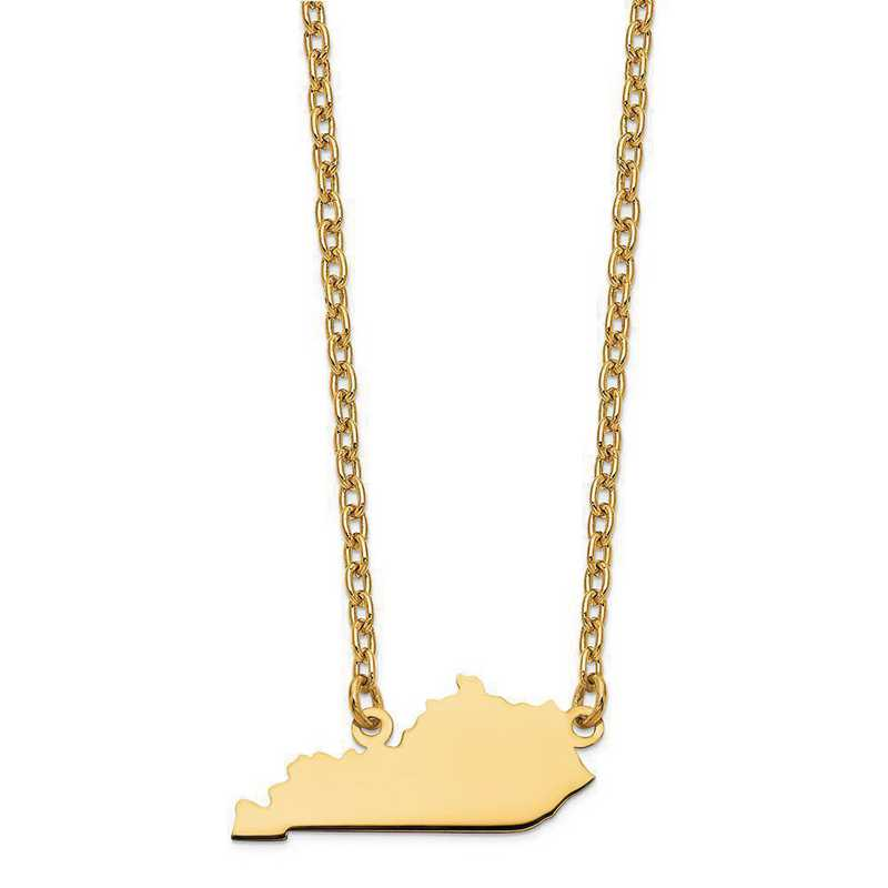 XNA706Y-KY: 14K Yellow Gold KY State Pendant with chain