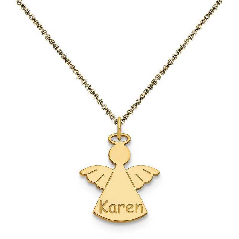 10XNA868Y-10PE53-18: 10k Yellow Gold Angel Name Charm