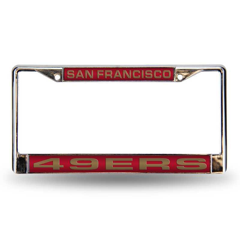 FCL1902: NFL FCL Chrome Lsr License Frame 49ers