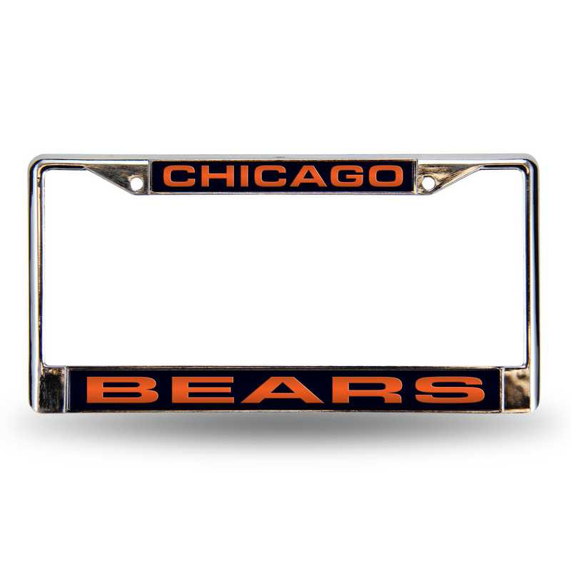 FCL1201: NFL FCL Chrome Lsr License Frame Bears