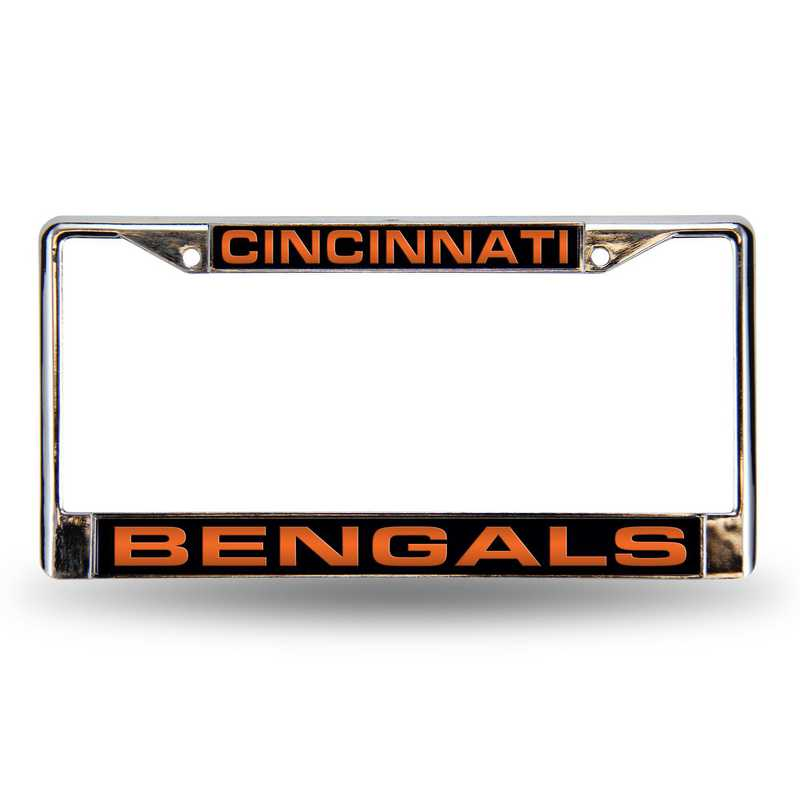 FCL3201: NFL FCL Chrome Lsr License Frame Bengals