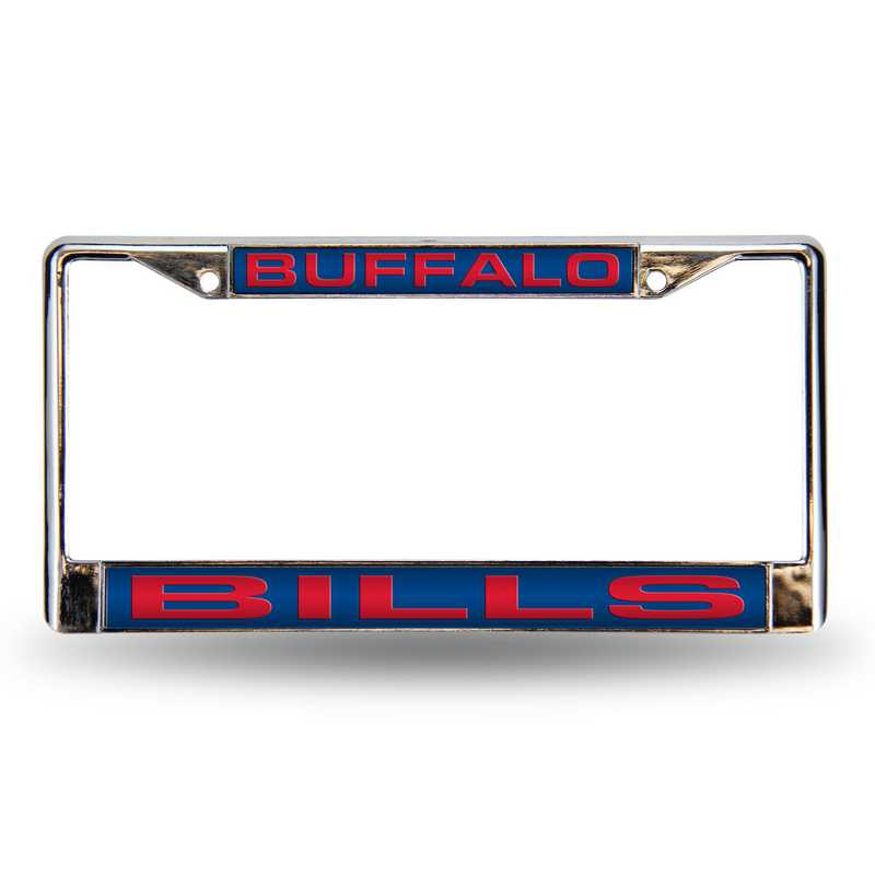 FCL3501: NFL FCL Chrome Lsr License Frame Bills
