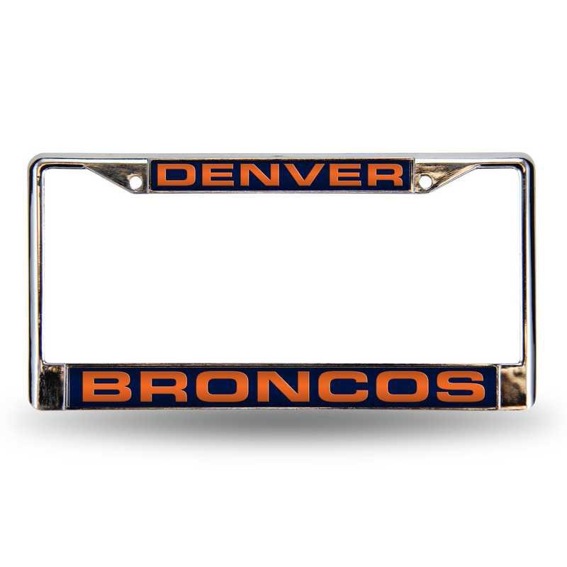 FCL1601: NFL FCL Chrome Lsr License Frame Broncos