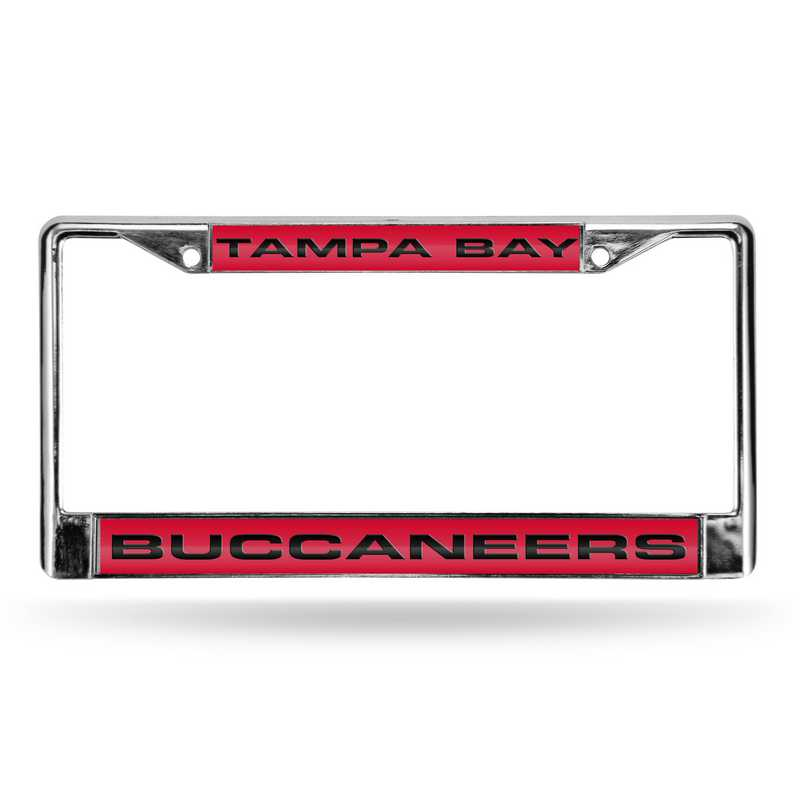 FCL2102: NFL FCL Chrome Lsr License Frame Buccane
