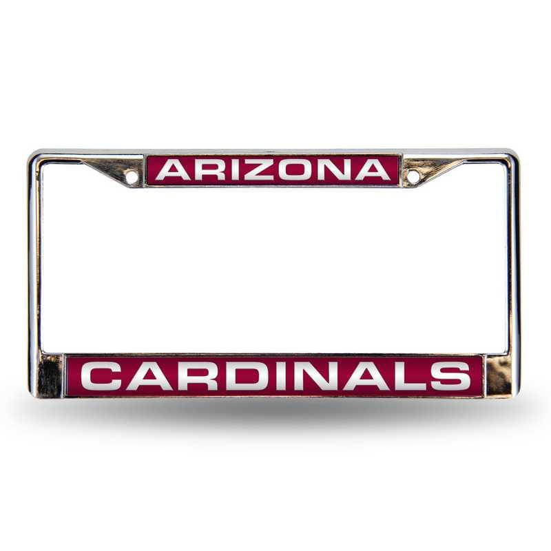 FCL3601: NFL FCL Chrome Lsr License Frame Cardina