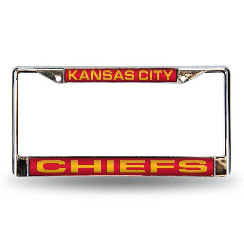 FCL2702: NFL FCL Chrome Lsr License Frame Chiefs