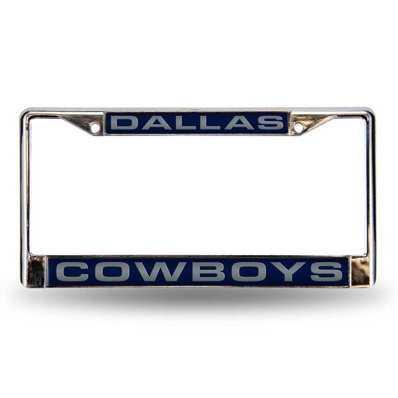 FCL1801: NFL FCL Chrome Lsr License Frame Cowboys