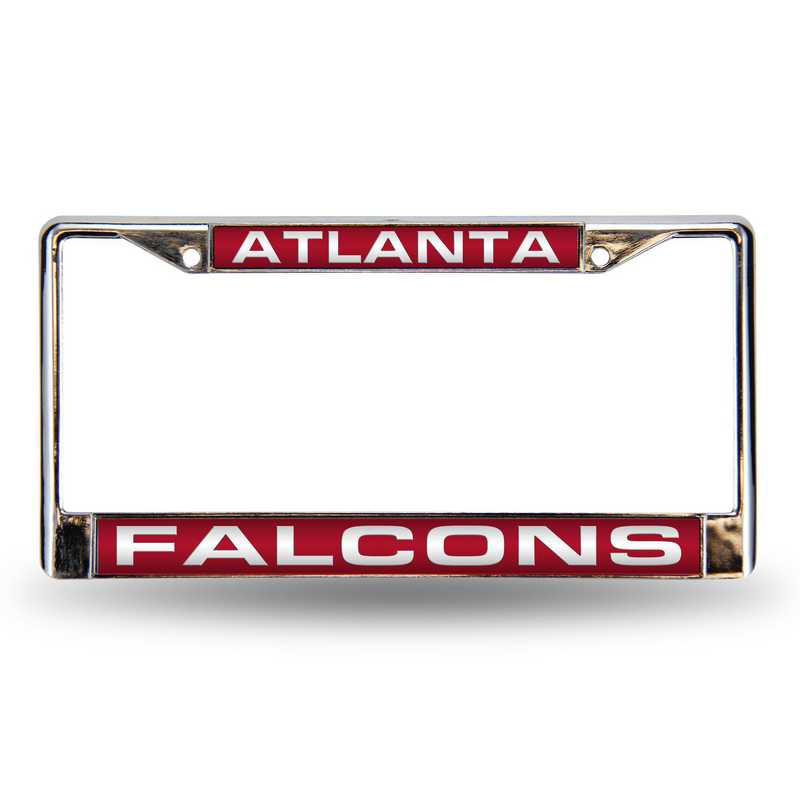 FCL2001: NFL FCL Chrome Lsr License Frame Falcons