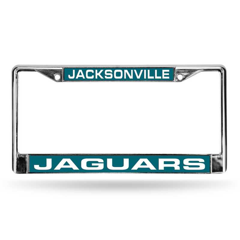 FCL0902: NFL FCL Chrome Lsr License Frame Jaguars