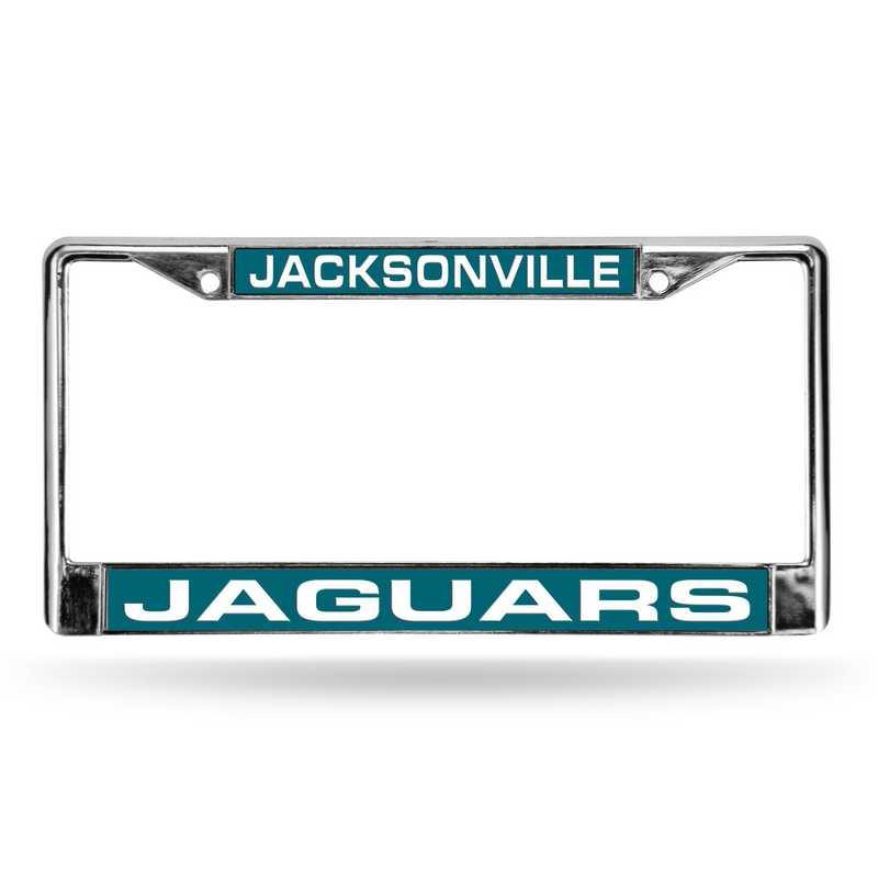FCL0902: NFL FCL Chrome Lsr License Frame Jaguars