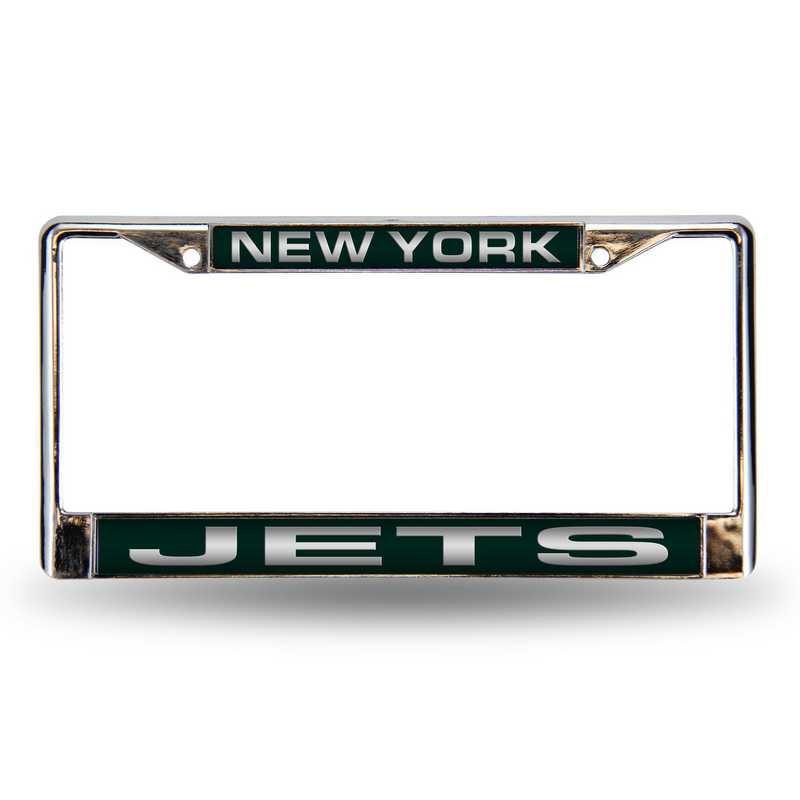 FCL2201: NFL FCL Chrome Lsr License Frame Jets