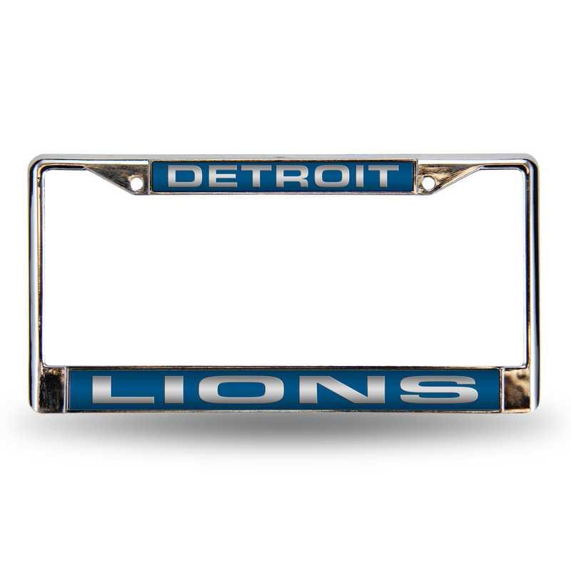 FCL2402: NFL FCL Chrome Lsr License Frame Lions