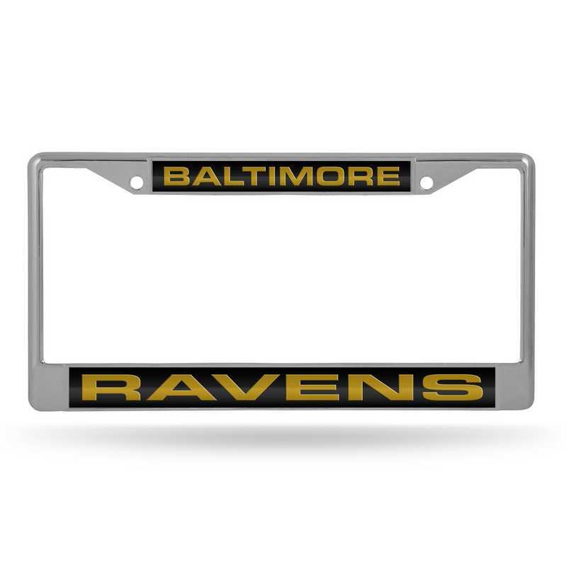 FCL0702: NFL FCL Chrome Lsr License Frame Ravens
