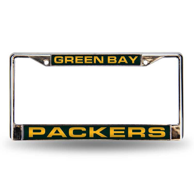 FCL3301: NFL FCL Chrome Lsr License Frame Packers