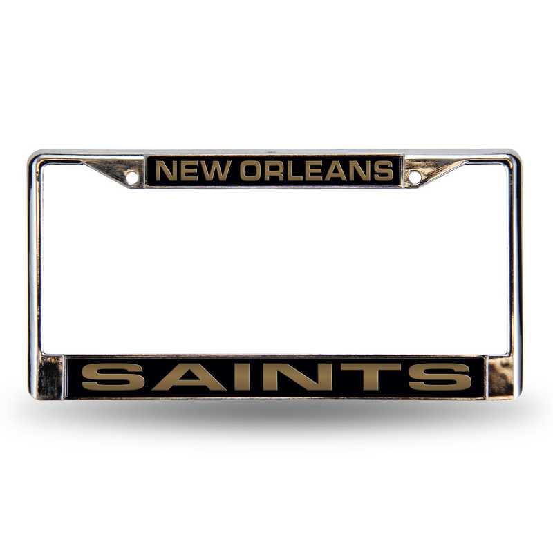 FCL1301: NFL FCL Chrome Lsr License Frame Saints