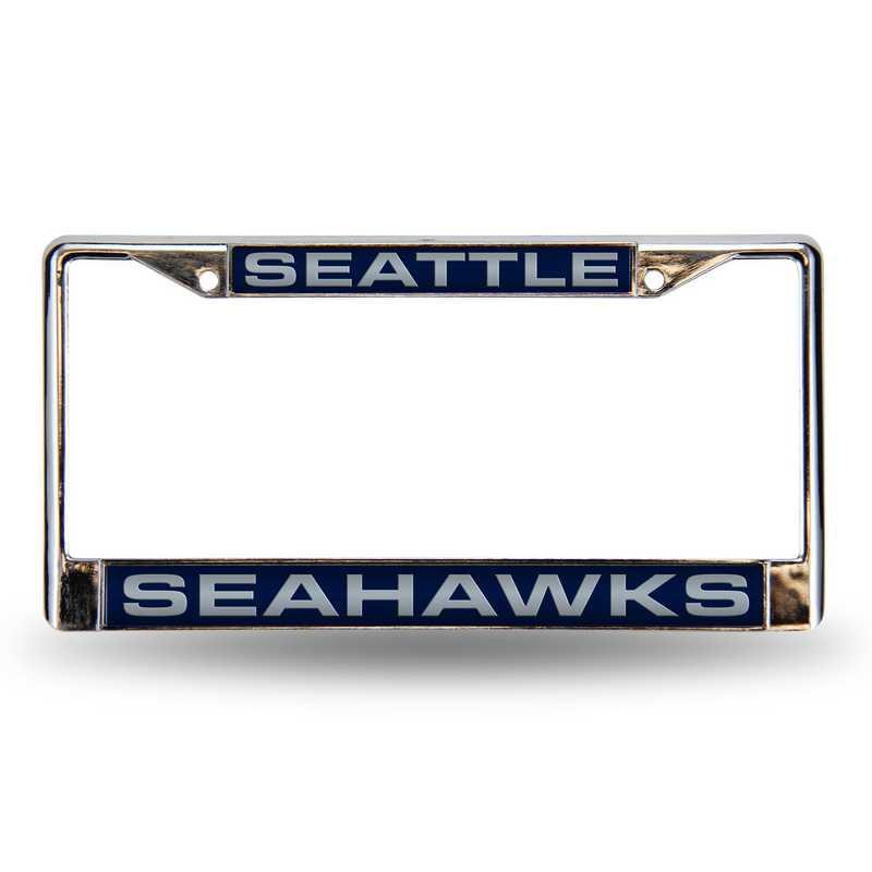 FCL2902: NFL FCL Chrome Lsr License Frame Seahawks