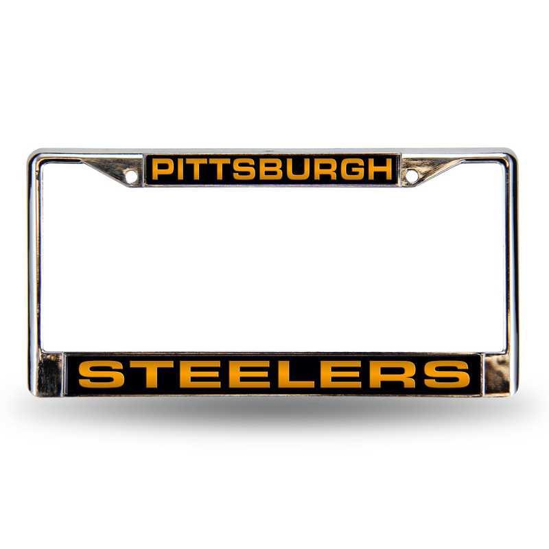 FCL2301: NFL FCL Chrome Lsr License Frame Steeler
