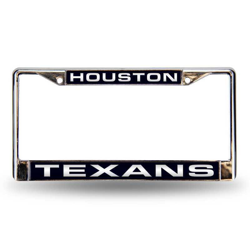 FCL0601: NFL FCL Chrome Lsr License Frame Texans