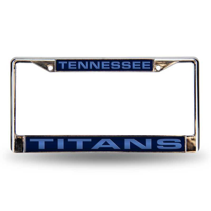 FCL0301: NFL FCL Chrome Lsr License Frame Titans