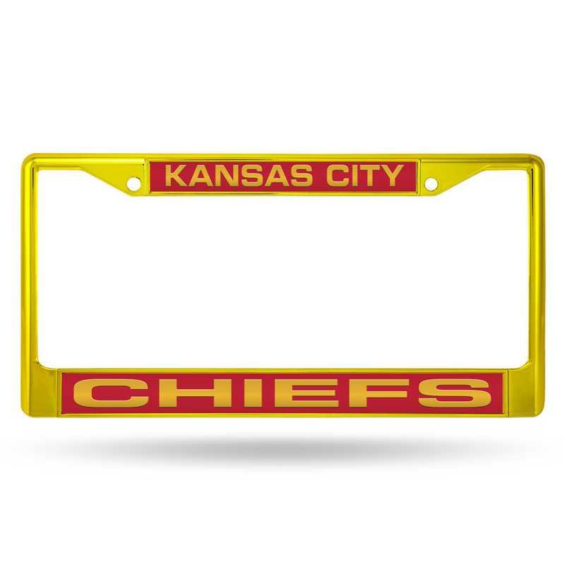 FNFCCL2701YL: NFL FCCL Lsr Color Chrome Frame Chiefs