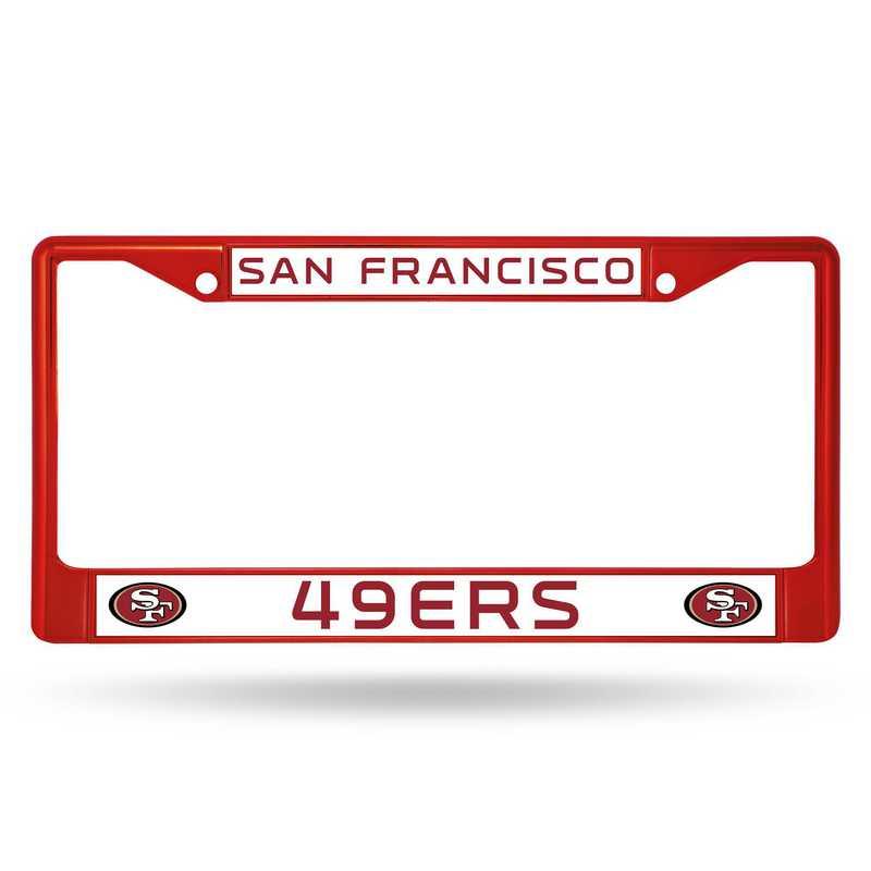 FCC1905RD: NFL FCC Chrome Frame (Colored) 49ers