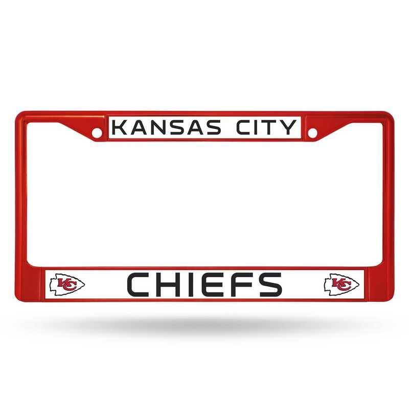 FCC2704RD: NFL FCC Chrome Frame (Colored) Chiefs