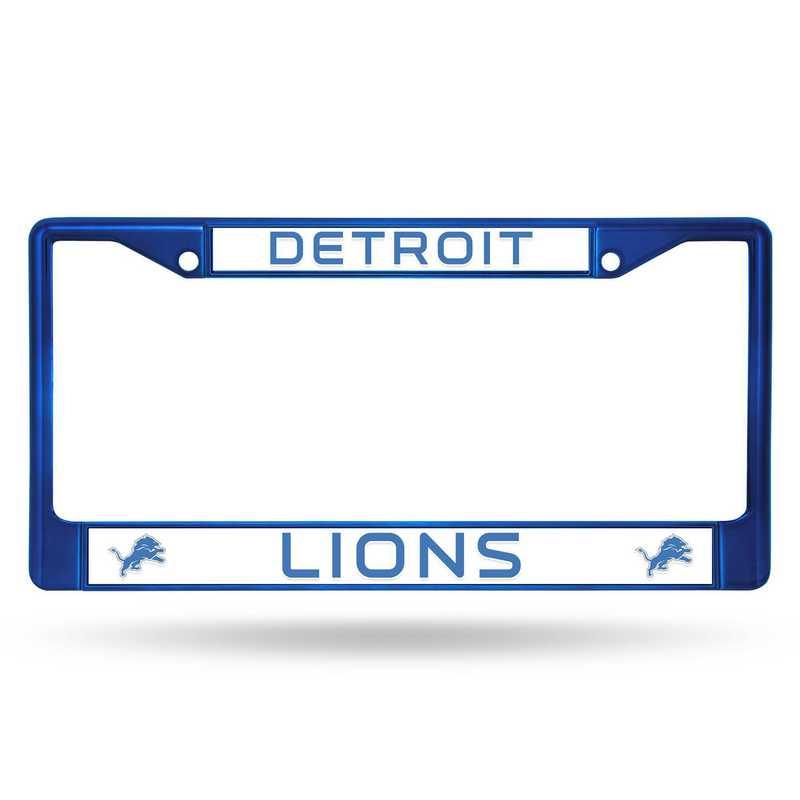 FCC2406BL: NFL FCC Chrome Frame (Colored) Lions