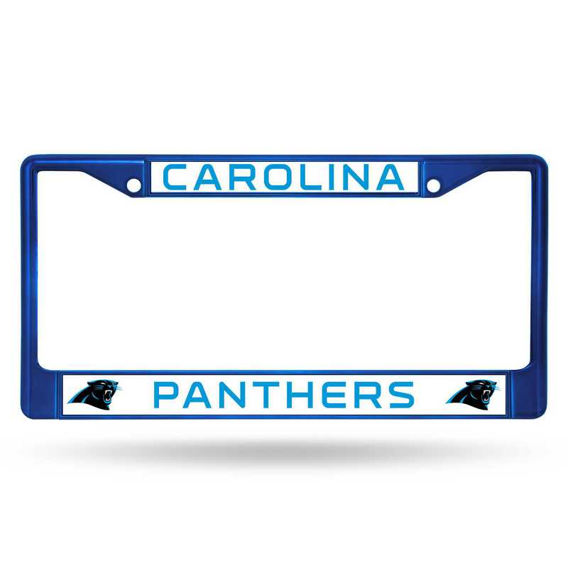 FCC0803BL: NFL FCC Chrome Frame (Colored) Panthers