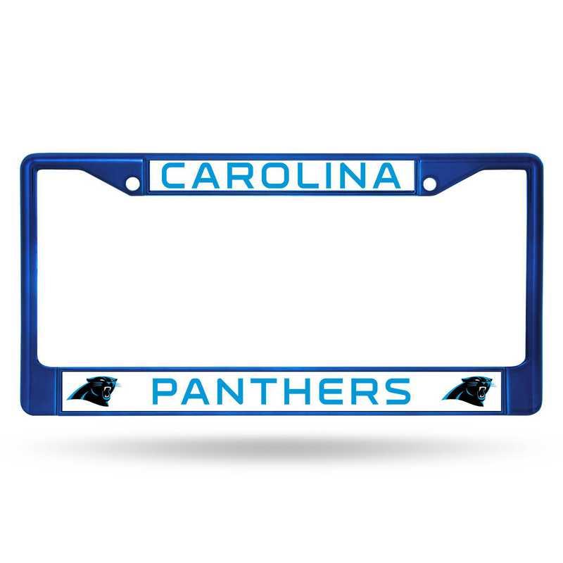 FCC0803BL: NFL FCC Chrome Frame (Colored) Panthers