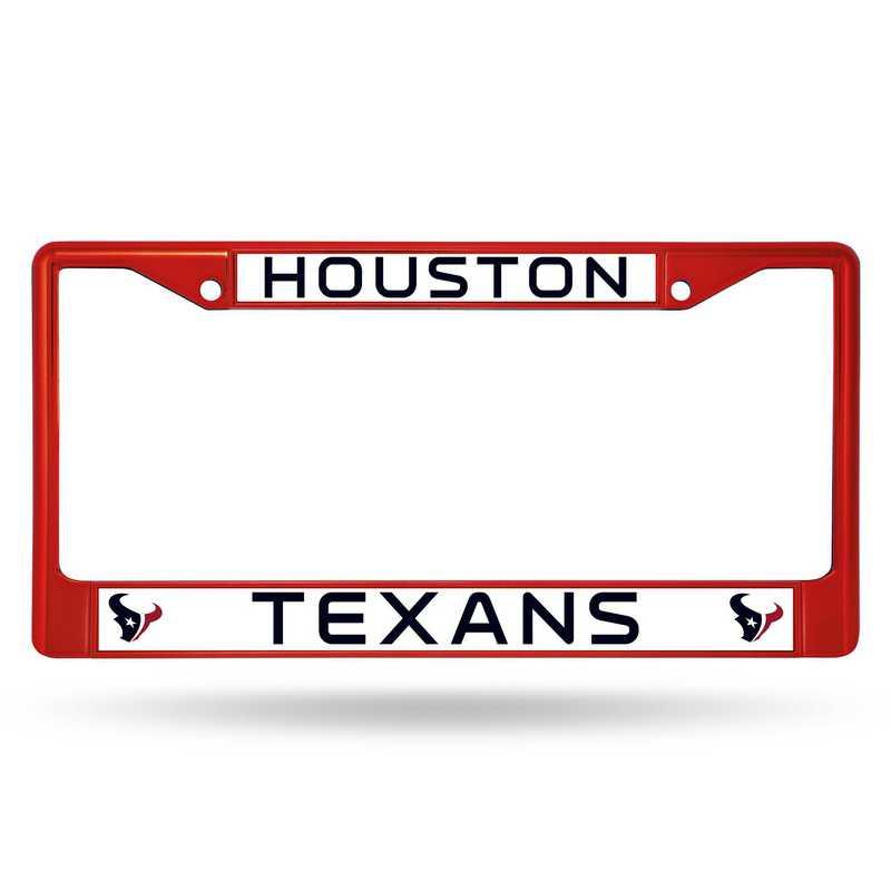 FCC0603RD: NFL FCC Chrome Frame (Colored) Texans