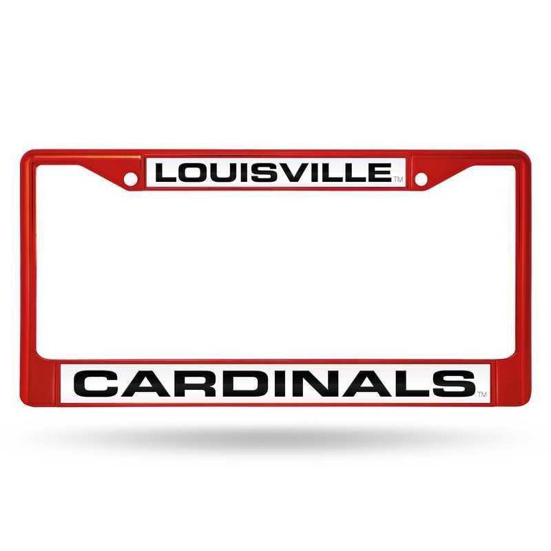 FNFCCL190003RD: NCAA FCCL Lsr Color ChromeFrm Louisville