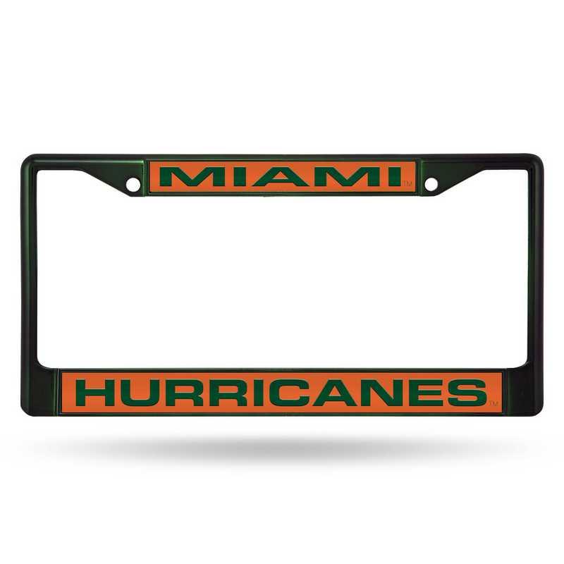 FNFCCL100303GR: NCAA FCCL Lsr Color Chrome Frm Miami