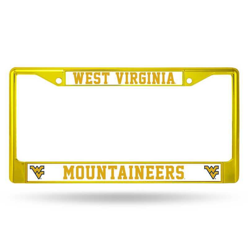 FCC280104YL: NCAA FCC Chrome Frame ColoredW.Virginia