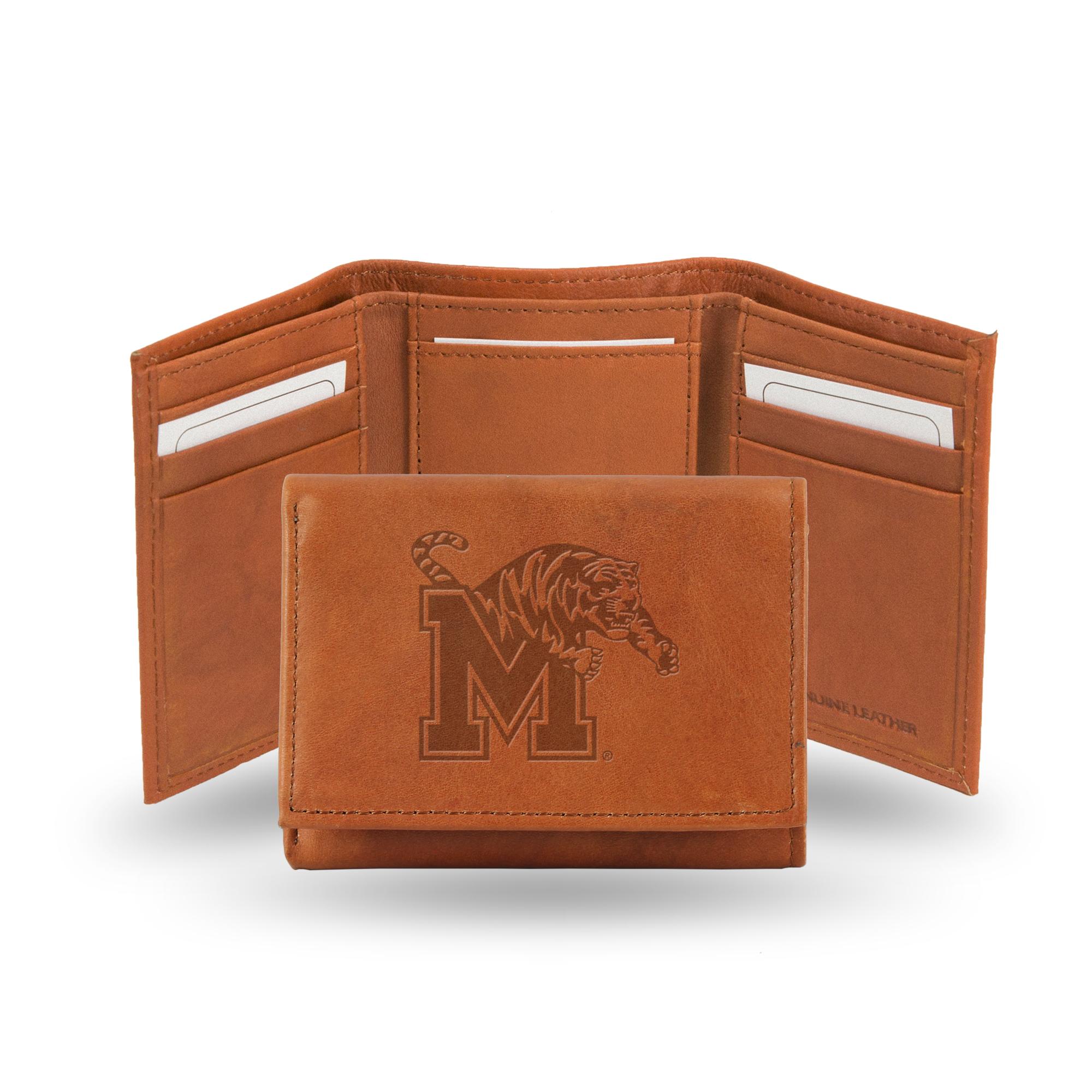 Memphis Tigers NCAA Rico Industries  Laser Engraved Billfold Wallet