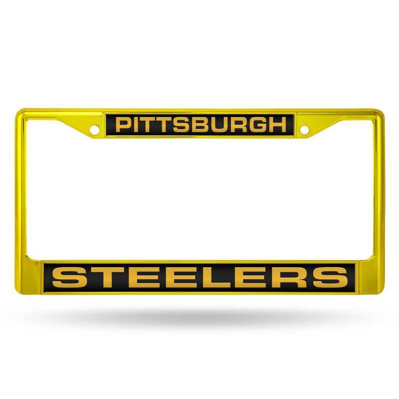 FNFCCL2301YL: NFL FCCL Lsr Color Chrome Frame Steelers