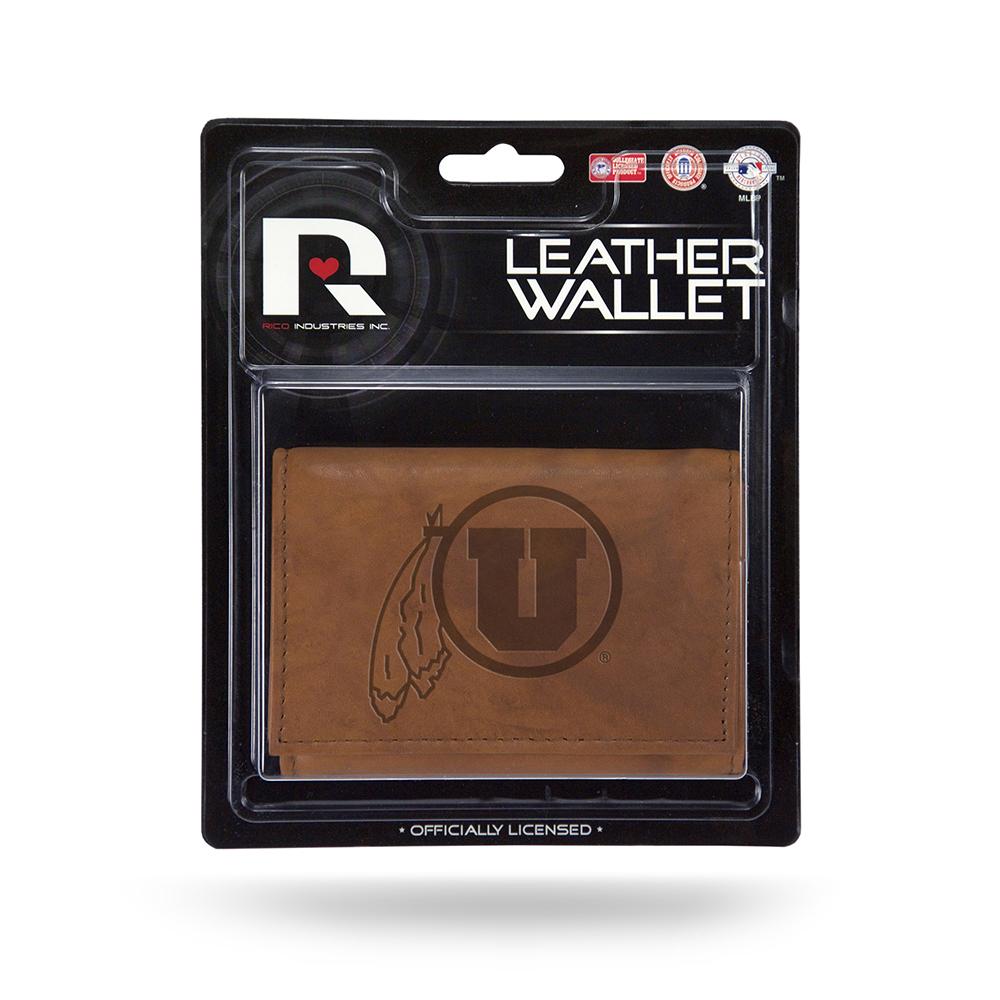 Utah Utes NCAA Rico Industries Laser Engraved Billfold Wallet