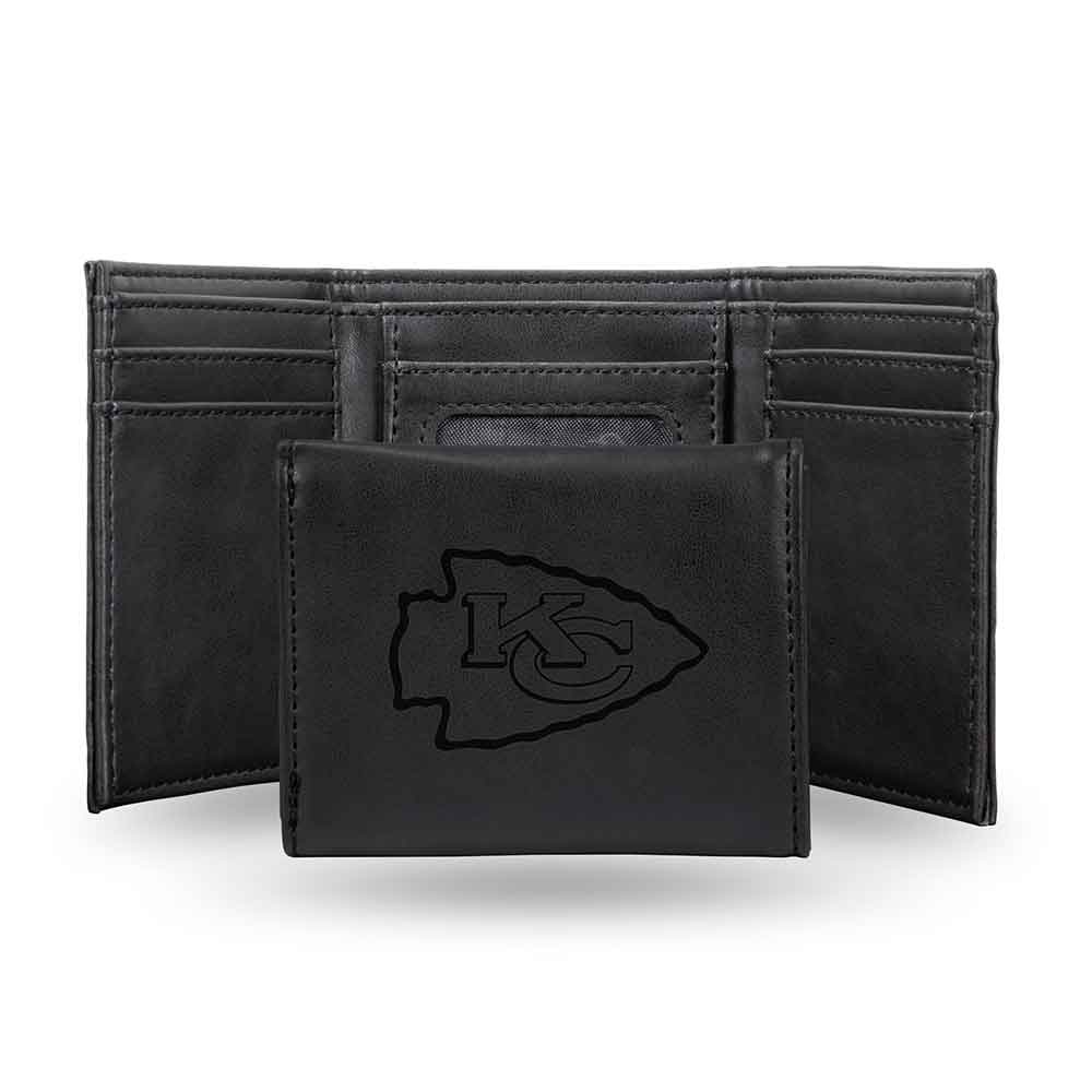 Rico Industries NFL Kansas City Chiefs Embroidered Leather Trifold Wallet