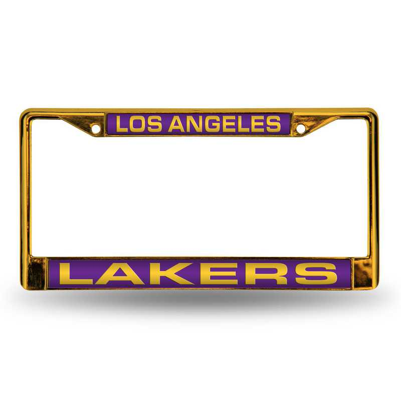 FNFCCL82001YL: RICO LAKERS YELLOW LASER COLORED CHROME FRAME
