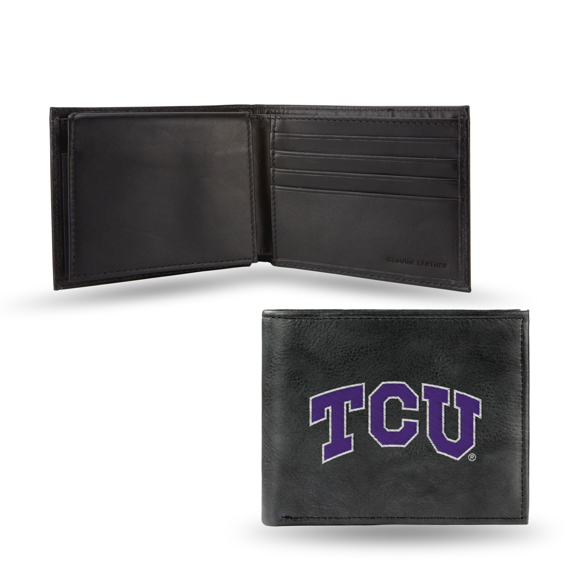 Rico College TCU Embossed Leather Billfold Wallet