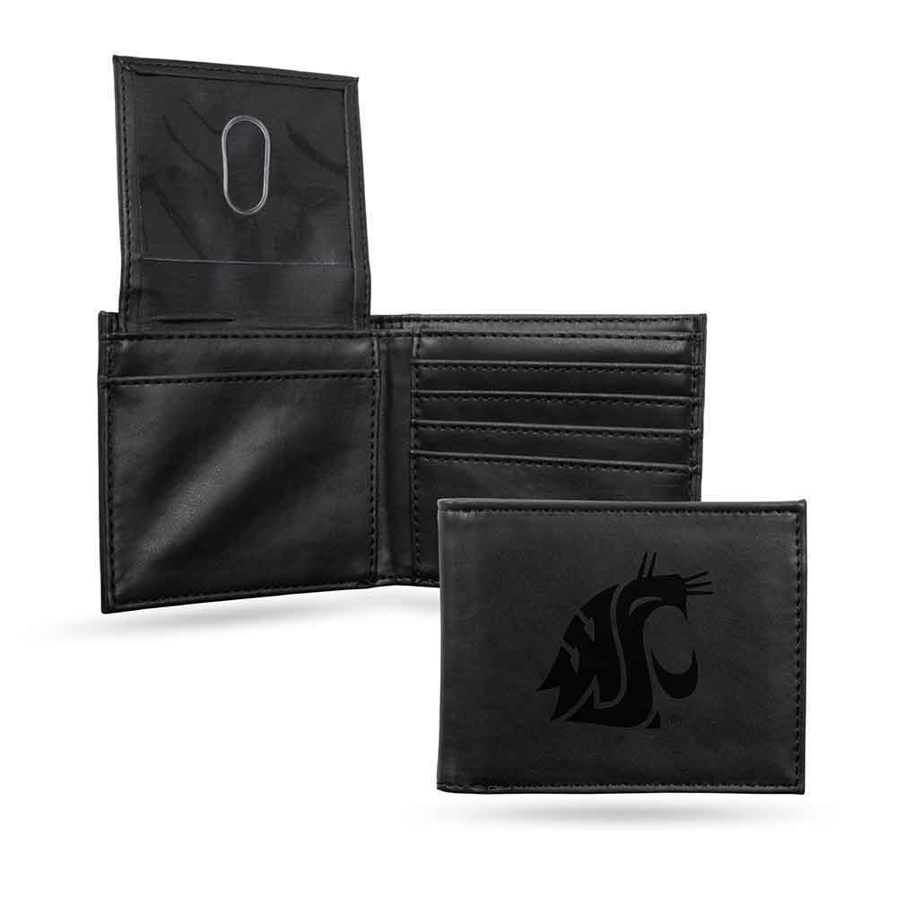 Cougars Embossed Leather Billfold Wallet NEW in Gift Tin Washington St
